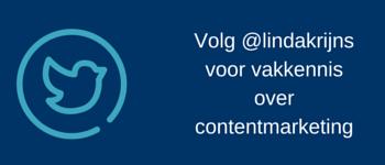 Volg @lindakrijns op twitter