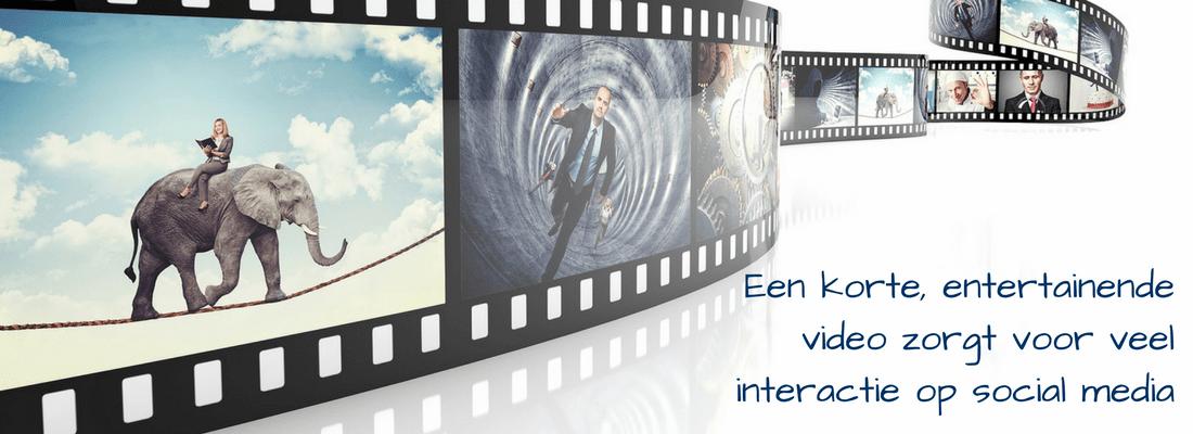 Video is een content vorm die geschikt is om zichtbaar te zijn op social media