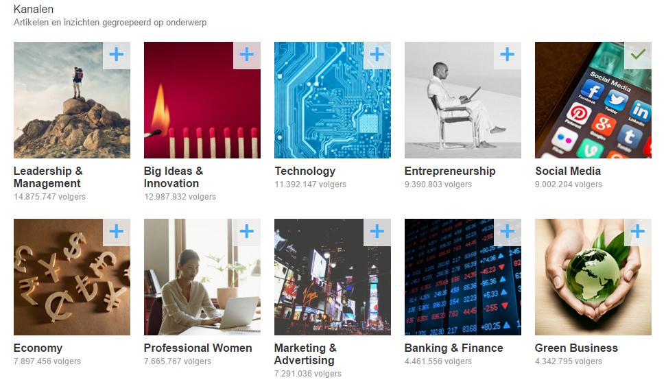 LinkedIn Pulse kanalen