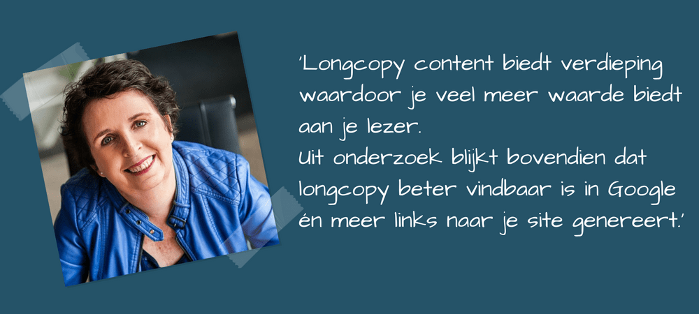 Longcopy heeft een aantal voordelen voor je contentmarketing
