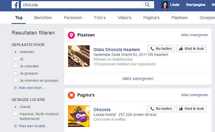 lokale vindbaarheid op Facebook