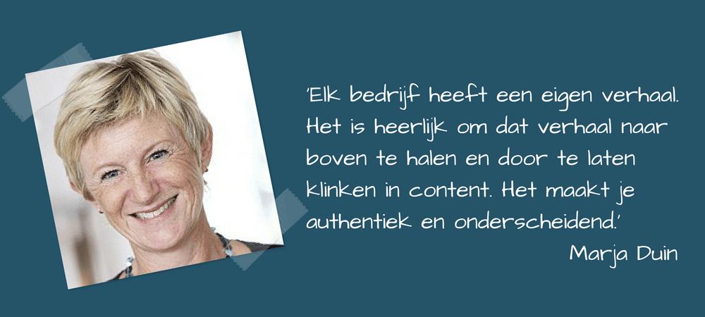 Marja Duin over een eigen stem laten horen in de content van en over je bedrijf