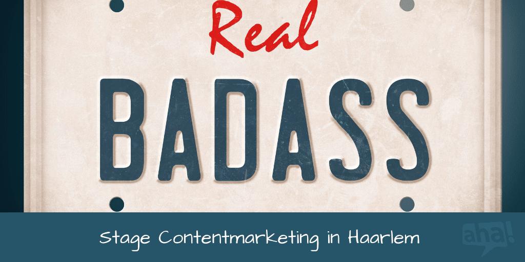 Stage contentmarketing in Haarlem