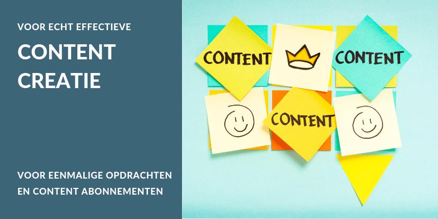 Wil je het maken van content uitbesteden? Wij maken content op eenmalige basis en bieden content abonnementen