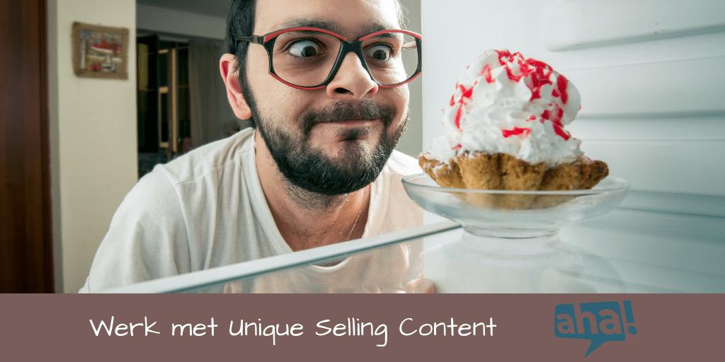 Zo werk je met unique selling content