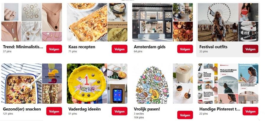 borden Pinterest Nederland