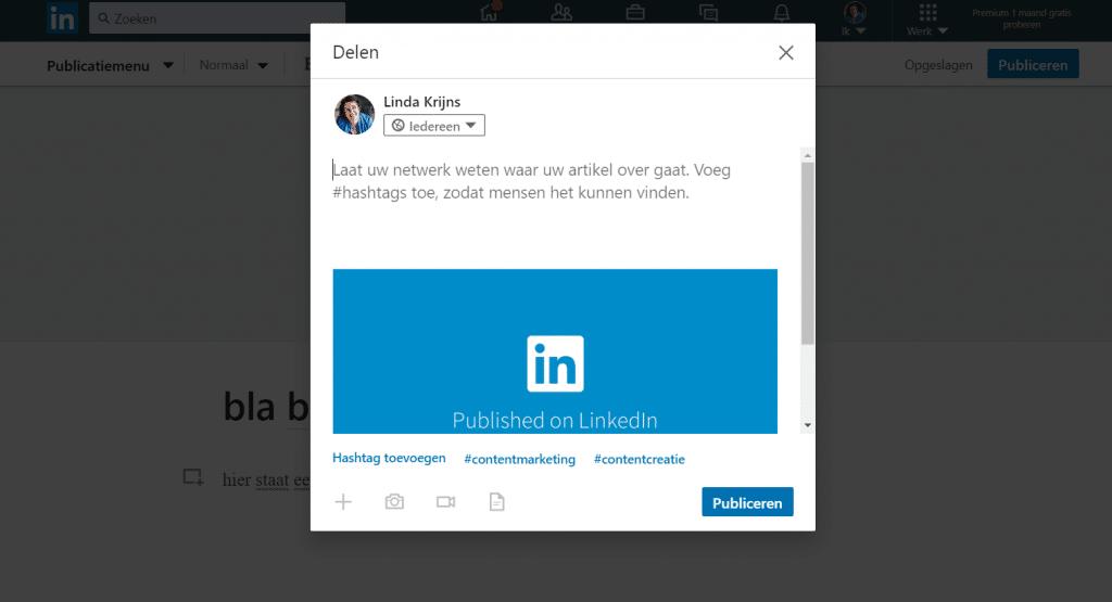 hashtags gebruiken op LinkedIn zodat je een artikel goed vindbaar maakt