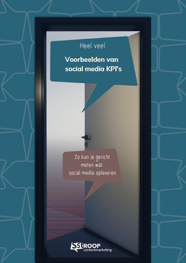 PDF met voorbeeld social media KPI's