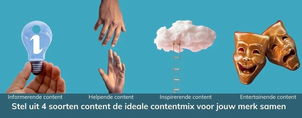 ideale contentmix voor je merk