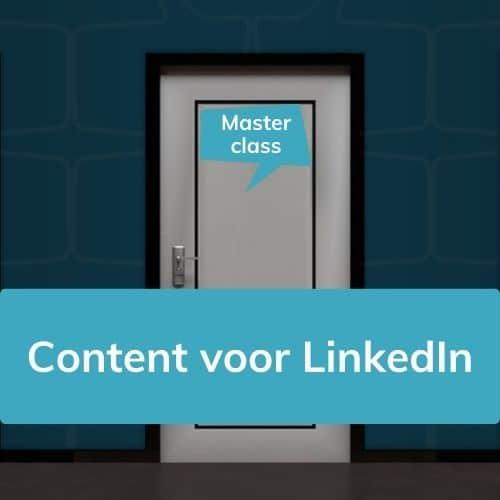 Masterclass LinkedIn content